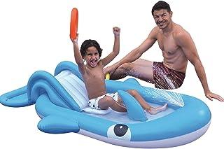 haohaiyo Centro de juegos de agua hinchable con toboganes, centro de juego para niños, piscina infantil con rociador de agua