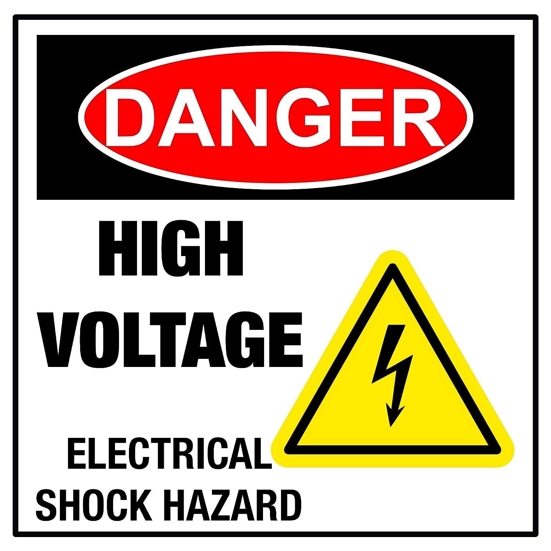 Aluminium Sign-Danger Electrical Hazard-Metal-Door Notice Safety Electricity