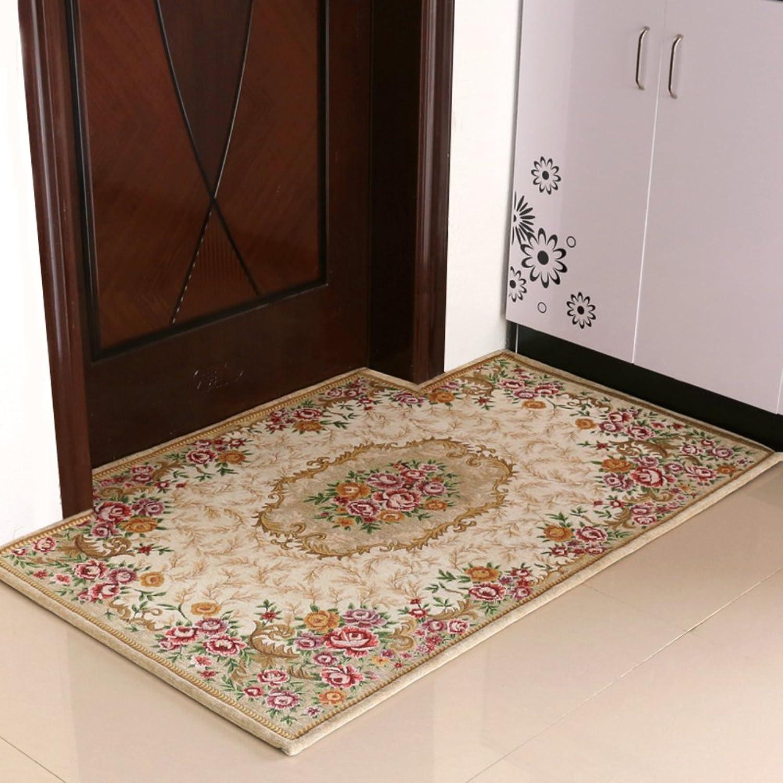 European-Style Entrance Door mats doormats Household Living Room Floor mats-H 90x140cm(35x55inch)