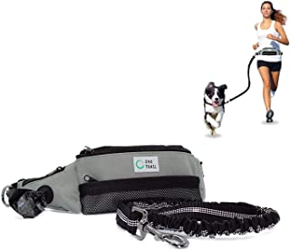 One Trail Hands Free Dog Leash | Durable Bungee Leash with No-Bounce Pack | for Men & Women | Pouch Fits All Large Cell Phones | Fits up to 50