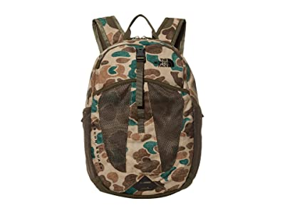 The North Face Recon Squash Backpack (Youth) (Hawthorne Khaki Duck Camo Print/New Taupe Green) Backpack Bags