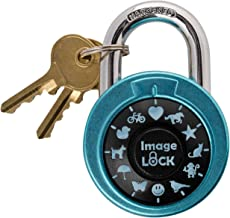 Combination Lock with Pictures, ImageLOCK – Patented Non-Resettable Combination Lock with Administrative Key, Pictures Ins...