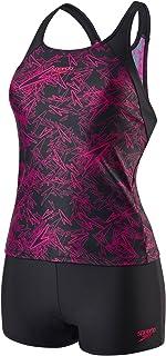 Speedo Women's Boom Allover Tankini Swimsuit, Multicolored