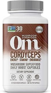 Om Organic Mushroom Nutrition Cordyceps Mushroom Superfood Daily Boost Capsule, 90 Count