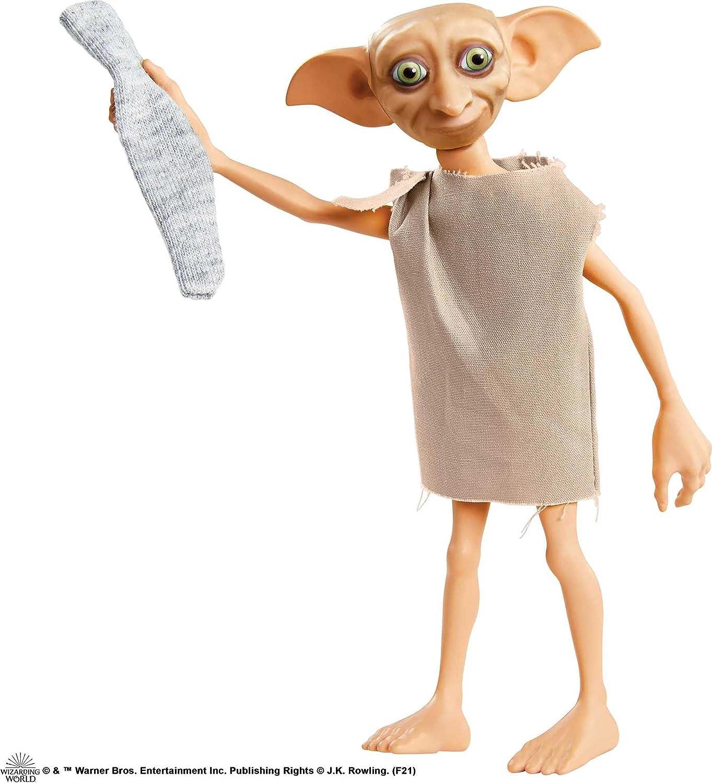 Harry Potter Dobby el elfo doméstico, muñeco de juguete de 13 cm con calcetín (Mattel GXW30)