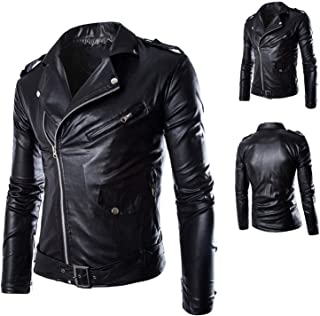 Street Men's Leather Jacket Coat British Men's Leather Garment