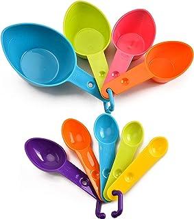 None/Brand Heiqlay Cuillère à Mesurer Plastique, Cuillères Mesureur Cuisine, Ensemble de Cuillères à Mesurer, 7 Tasses à M...