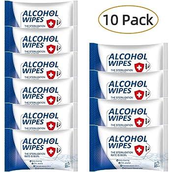 60 Feuilles//Paquet Lingettes Multi-Usages Propres Tampons Jetables 75/% Lingettes Alcoolis/ées Nettoyantes