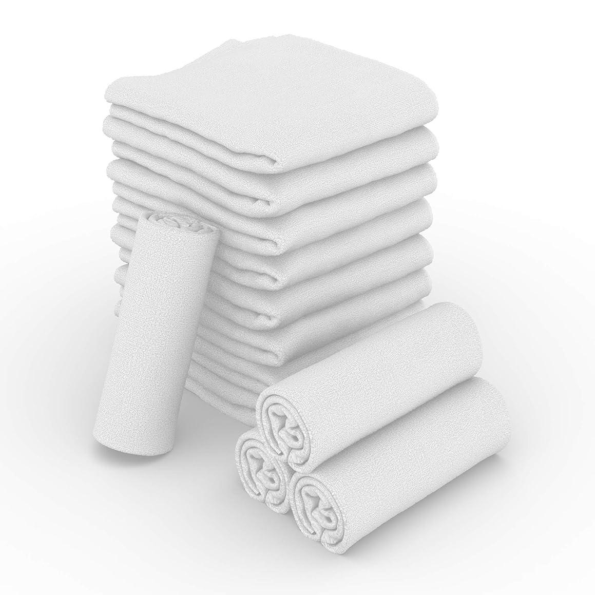 JMR White Terry 22x44 6.25lb 100% Cotton Bath Towels,12 pk