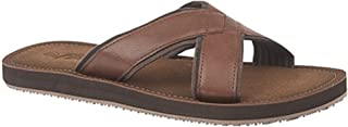 PDQ Mens Lightweight Crossover Mule Sandals