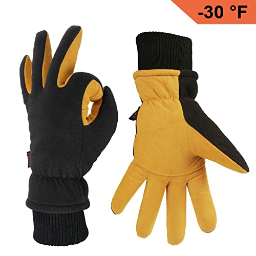 89a35588040e9 OZERO Winter Gloves -30°F Cold Proof Thermal Driving Glove - Insulated  Cotton and