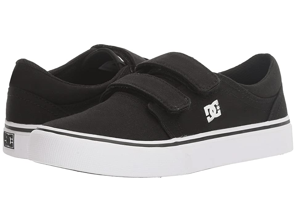 DC Kids Trase V (Little Kid/Big Kid) (Black/White) Boys Shoes