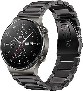 SPGUARD Bracelet Compatible avec Bracelet Huawei Watch GT 2 46mm Bracelet Huawei Watch GT 2 Pro,22mm Bracelet de Métal en ...