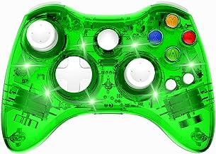 بی سیم Xbox 360 Controller Double Motor Vibration Wireless Gamepad Gaming Joypad، Green - PAWHITS