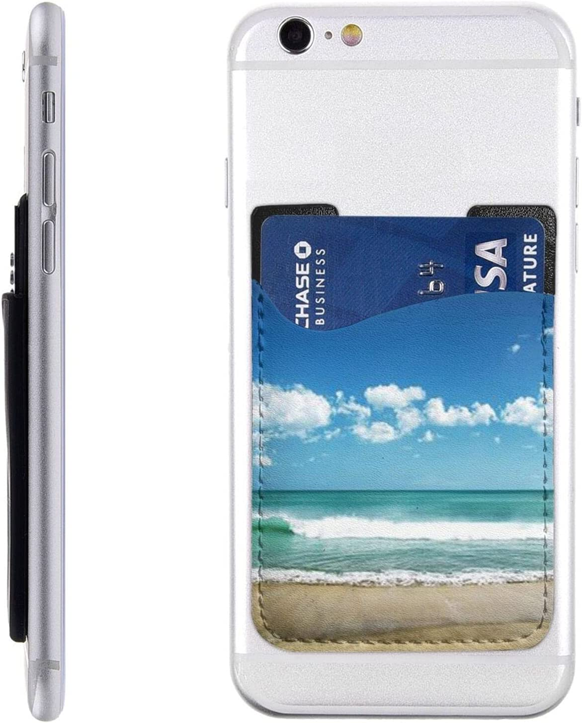 Sandy Spring new work one New item after another Beach Phone Card Holder Sl Wallet Cell Stick On
