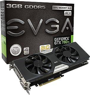 EVGA 03G-P4-2884-KR GeForce GTX 780 Ti 3GB GDDR5 - Tarjeta gráfica (GeForce GTX 780 Ti, 3 GB, GDDR5, 384 bit, 4096 x 2160 Pixeles, PCI Express 3.0)