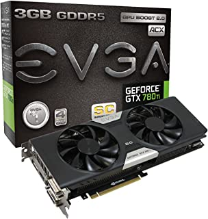 EVGA GeForce GTX 780 Ti Superclocked w/ACX Cooler 3GB GDDR5 384bit Dual-Link DVI-I DVI-D HDMI DP SLI Graphics Cards 03G-P4-2884-KR