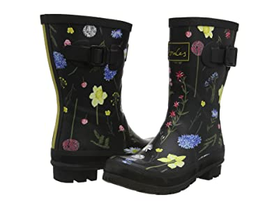 Joules Molly Welly (Black Floral 3) Women
