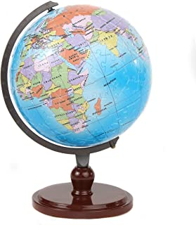 Lily's Home Your World 3D Kids Educational Interactive Earth Globe Puzzle, with Rotating Stand and Numbered Pieces for Easy Assembly, 240 Pieces (6 Inch Globe, 8 1/4