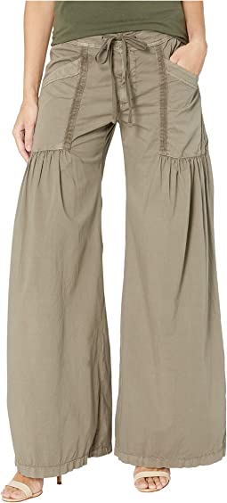 Willow Wide Leg Stretch Poplin Pants