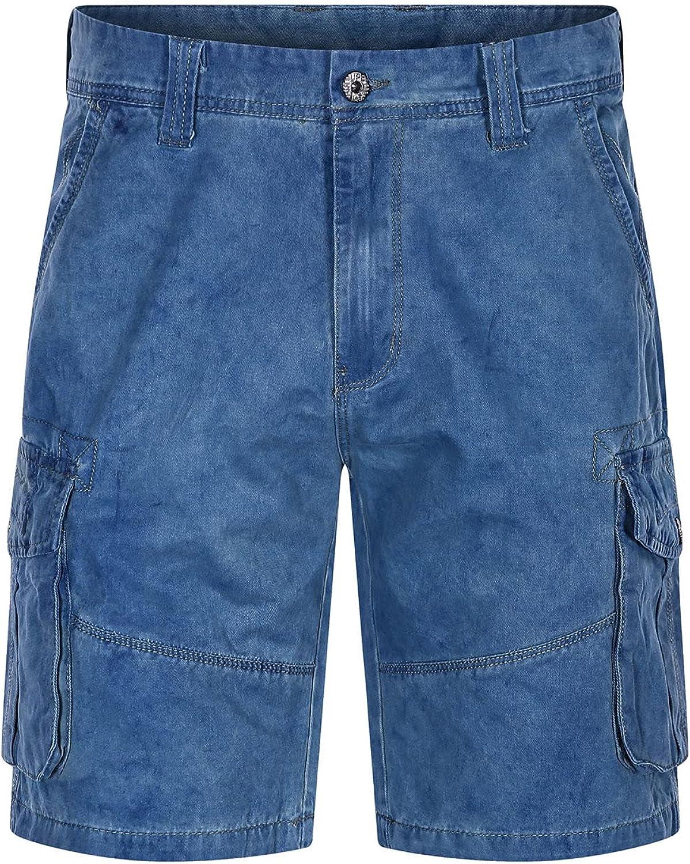 Men's Cargo Denim Shorts Multi Pockets Loose Fit Jean Short Summer Cotton Straight Leg Outdoor Casual Jeans Shorts (Blue,32)