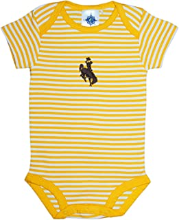Creative Knitwear University of Wyoming Cowboys Baby Striped Bodysuit