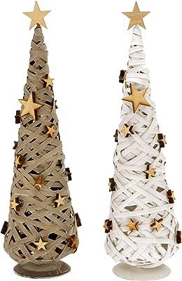 LD Navidad decorativo Algodón Tejida – Árbol de madera con madera ...