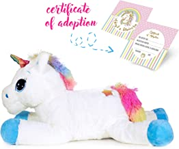 Unicorn Stuffed Animal Great Girls Gift, Kids Love to Cuddle with This Super Soft Toy. Perfect Size (24