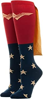 Women's Caped Knee High Wonder Woman Movie Socks Standard, Red, One Size