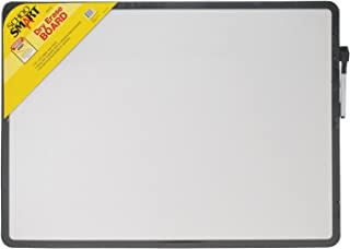 School Smart Dry Erase Board with Black Marker, 16 x 22 Inches, Black Frame