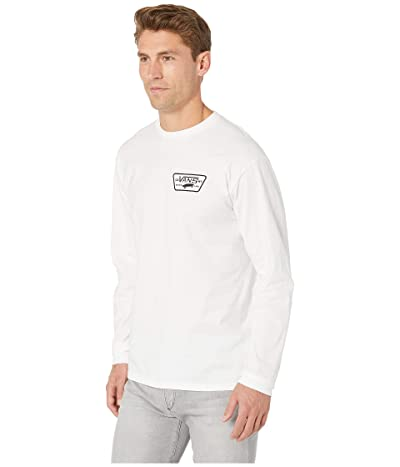 Vans Full Patch Back Long Sleeve Tee (White/Black) Men