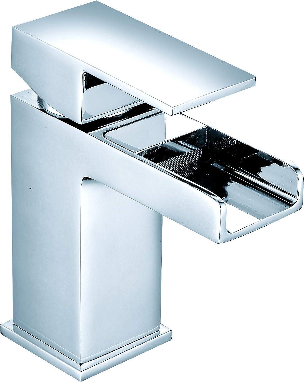 Kinross ValueBaths cascada grifo mezclador monomando para lavabo MiniSun baño grifo de palanca