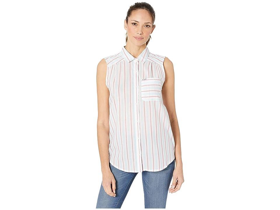 95cb1b8ef9f826 Columbia PFG Sun Driftertm II Sleeveless Shirt (Bright Geranium Stripe)  Women