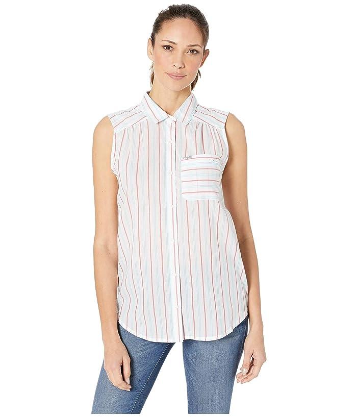 Columbia PFG Sun Driftertm II Sleeveless Shirt (Bright Geranium Stripe) Women
