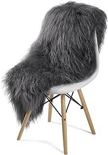 Icelandic Genuine Sheepskin Rug White or Grey (Grey) Long Fur up to 8