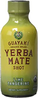 Guayakí Yerba Mate 2 Ounce Organic Energy Shot, Lime Tangerine, 12 Count