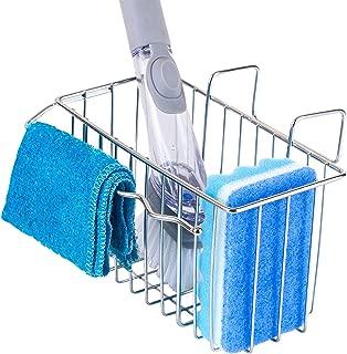 Sink Caddy, Dish Cloth Holder, Dish Brush Holder, Sponge Holder for Kitchen, SUS304 (18/8 stainless steel) Kitchen Sink basket for Storage Organization Drainer Rack Sponge Holder