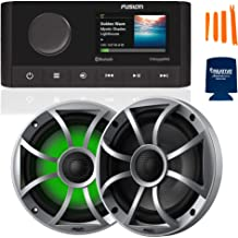 $589 » Sponsored Ad - Fusion MS-RA210 Marine AM/FM/BT/NEMA2000/SiriusXM Ready Stereo with 1 Pair Wet Sounds RECON6-S-RGB High Out...