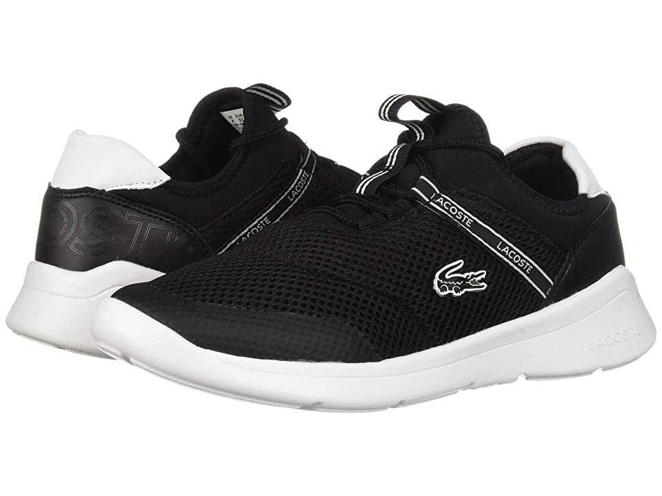 Lacoste Kids Lt Dash 119 1 SUJ (Little Kid/Big Kid) (Black/White) Kid