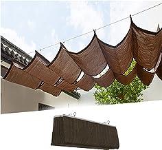 PENGFEI Intrekbare Pergola Luifel Schaduw Cover, Outdoor Decoratie Wave Shading Net voor Patio Tuin, Geventileerde Zonneka...