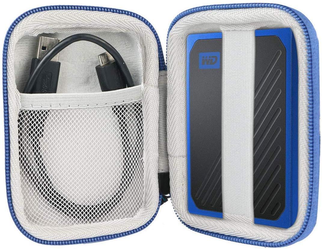 Khanka Duro Viaje Estuche Bolso Funda para WD My Passport, Resistente Superficie de Cobalto del Disco Duro Externo (Azul): Amazon.es: Electrónica