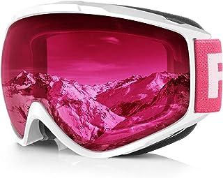 a9eb430aaa Gafas de Esquí,Findyway Máscara Gafas Esqui Snowboard Nieve Espejo para  Hombre Mujer Adultos Juventud