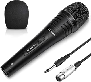TONOR Dynamic Karaoke Microphone for Singing with 5.0m XLR Cable, Metal Handheld Mic Compatible with Karaoke Machine/Speak...