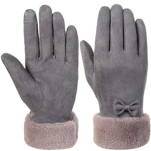 VBIGER Gants Tactiles Hiver Chaud Conduite Cuir Vogue pour Femme b9444dbb657