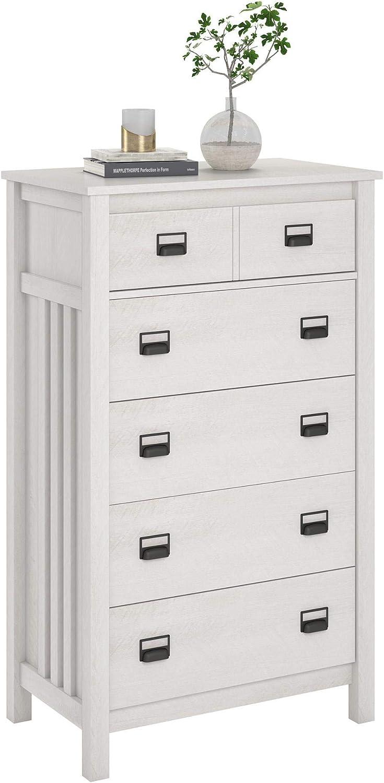 Ameriwood Home Adams 5 Dresser Ranking TOP1 Drawer Oak Very popular! Ivory