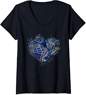 Womens Ukrainian Easter Eggs Heart Design   Pashka Orthodox Easter V-Neck T-Shirt