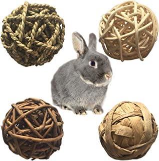 PIVBY Small Animal Activity Toy,Pets Play Chew Toys for Bunny Rabbits Guinea Pigs Gerbils, 4 Pack