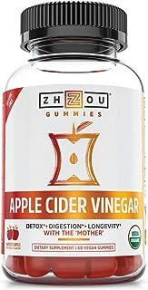 Zhou Nutrition Zhou Nutrition Apple Cider Vinegar Gummies With The Mother - Acv Vegan Detox Cleanse, Apple, 60 Gummies, 60...