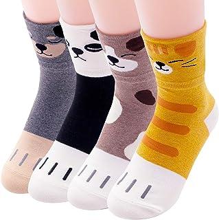 Calcetines de gato para mujer, diseño de búho Animal - Pawpaw 4 piezas talla única
