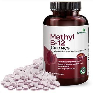 Futurebiotics Methyl B-12 5000 mcg Vitamin B12 as Methylcobalamin Non-GMO Fast Dissolve Tablets, 90 Cherry Vegetarian Loze...